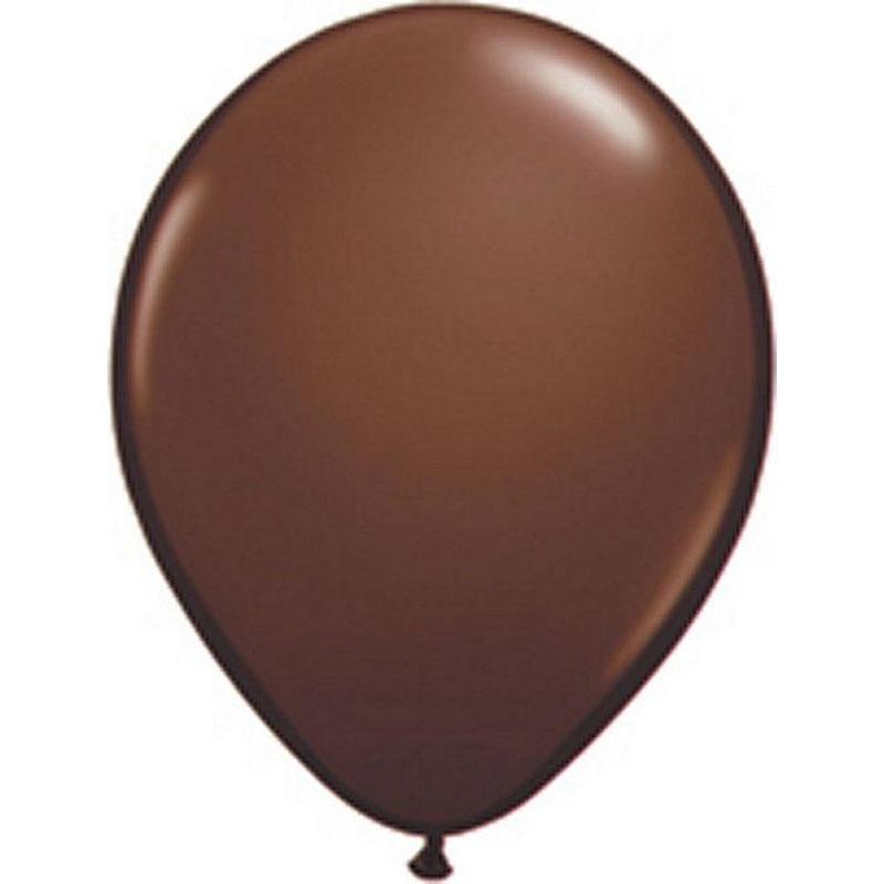 50 ballons latex chocolat