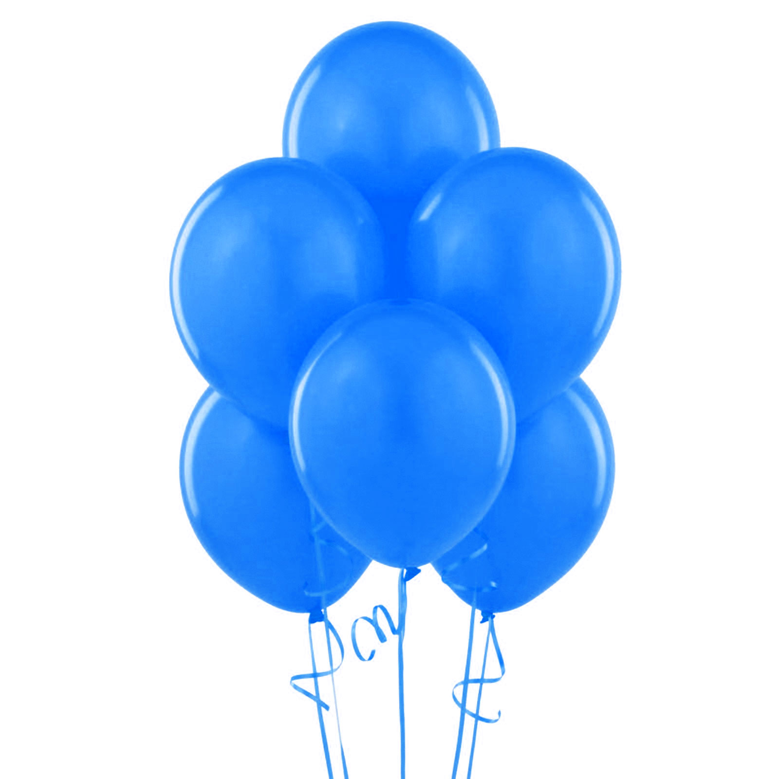 12 ballons latex bleu roy