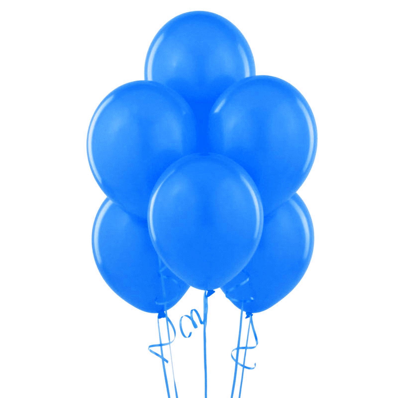 12 ballons latex bleu roy