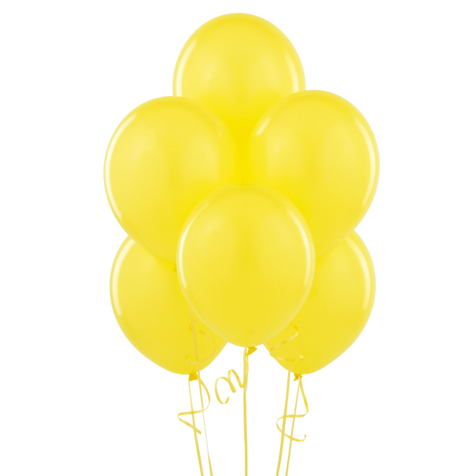 12 ballons latex jaunes