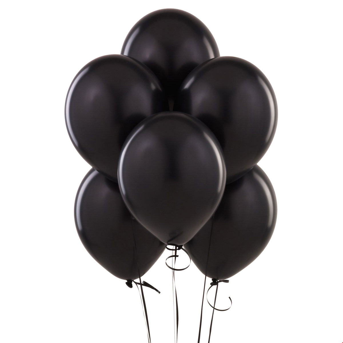 12 ballons latex noirs