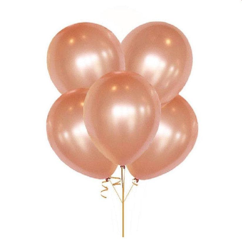 10 ballons métallisés gold rose