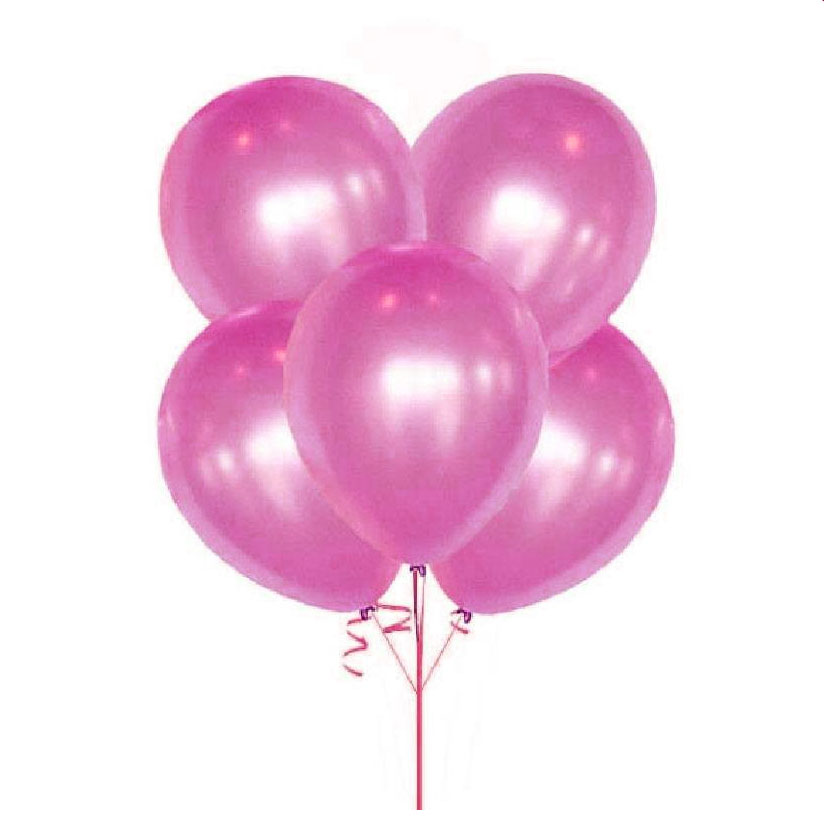 10 ballons métallisés roses
