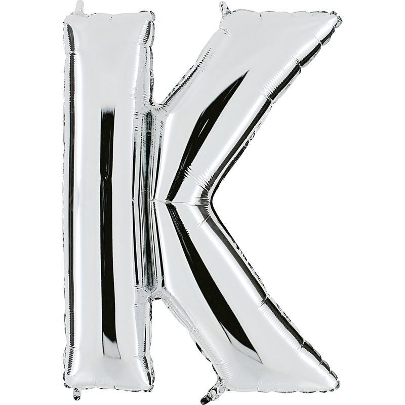Ballon mylar lettre K argent 104 cm