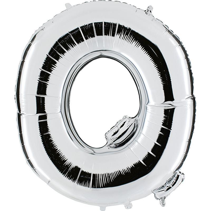 Ballon mylar lettre Q argent 104 cm