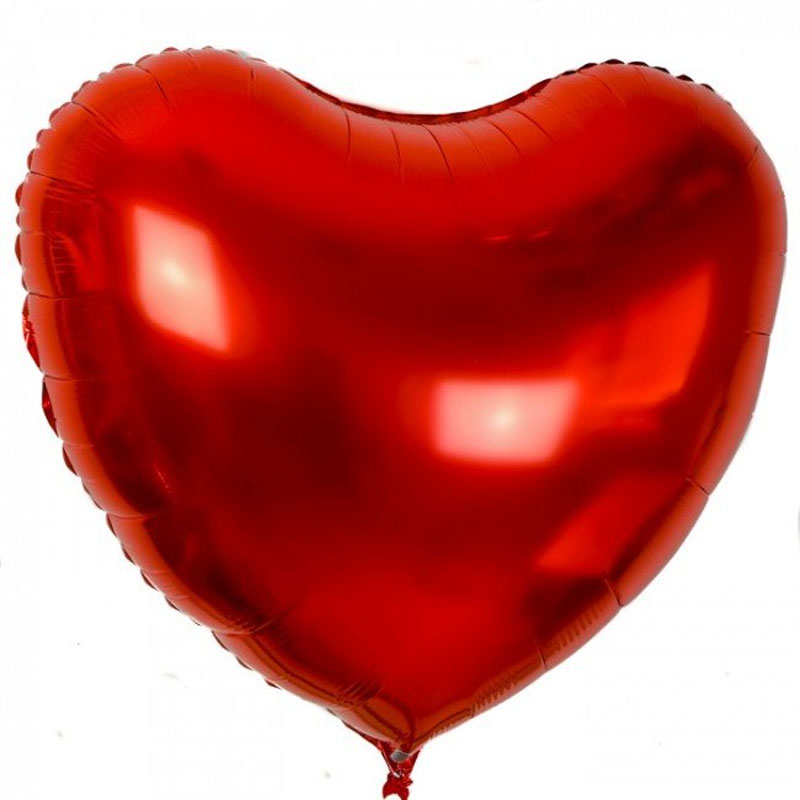 Ballon mylar coeur rouge XL