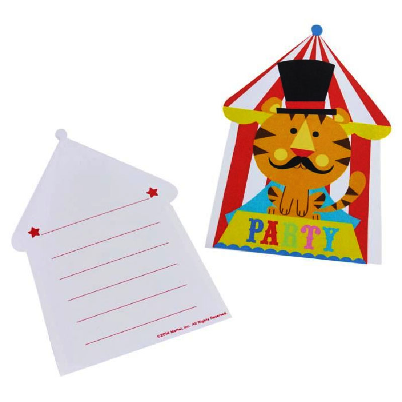 8 invitations cirque Fisher-Price