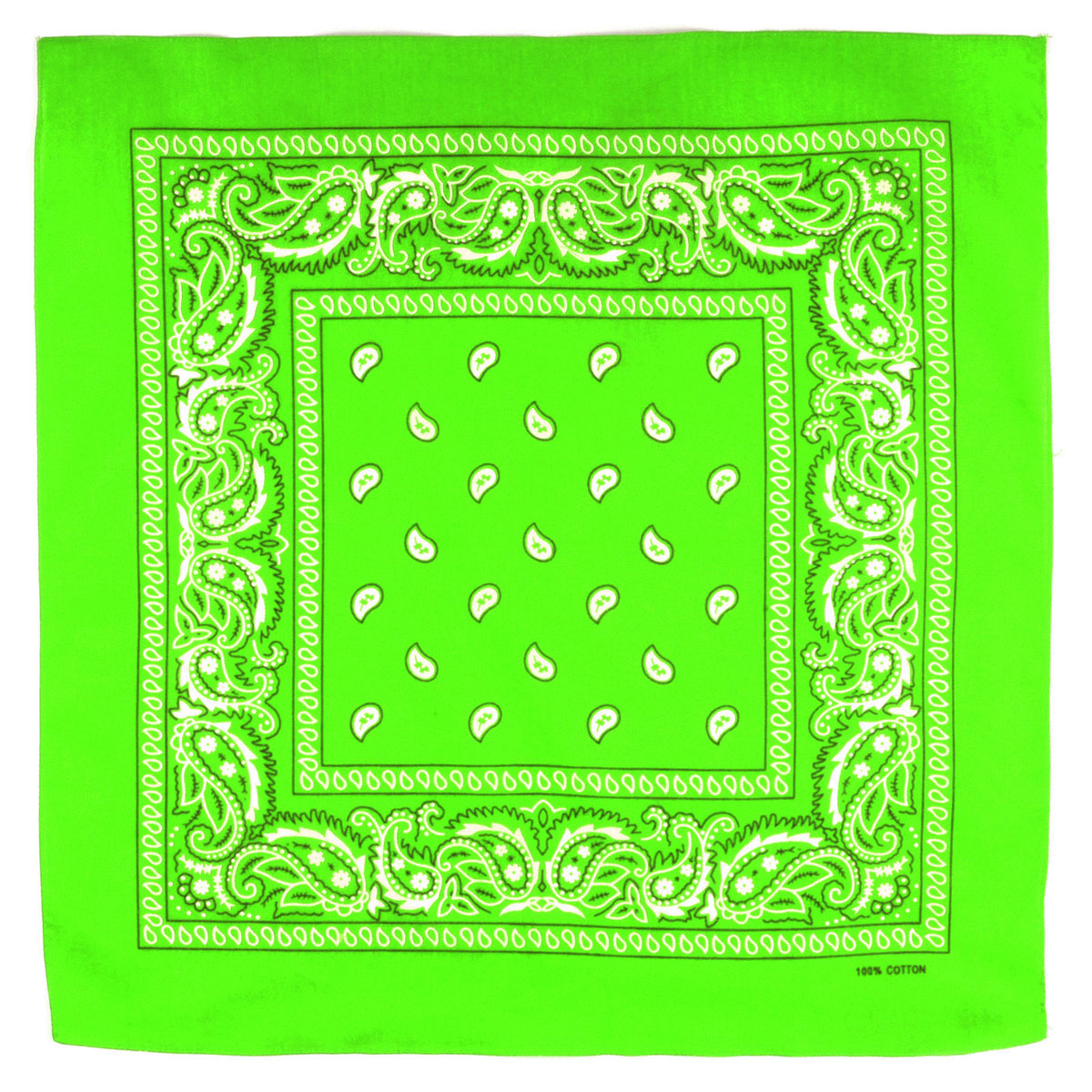 Bandana vert fluo