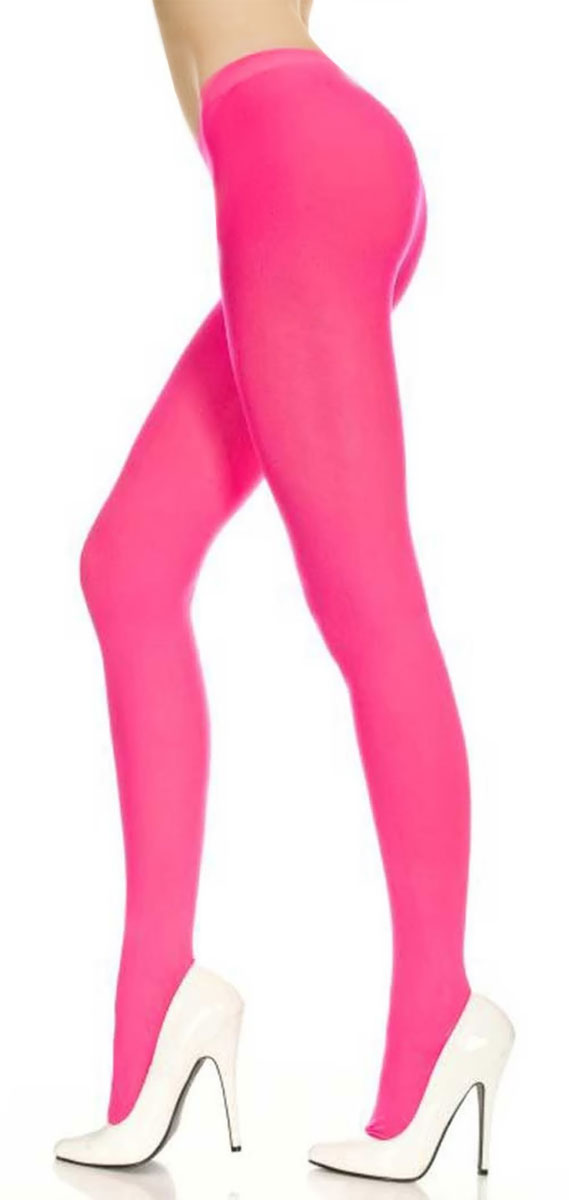 Collants Opaques Fluo Roses