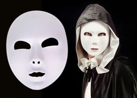Masque Blanc En Tissu