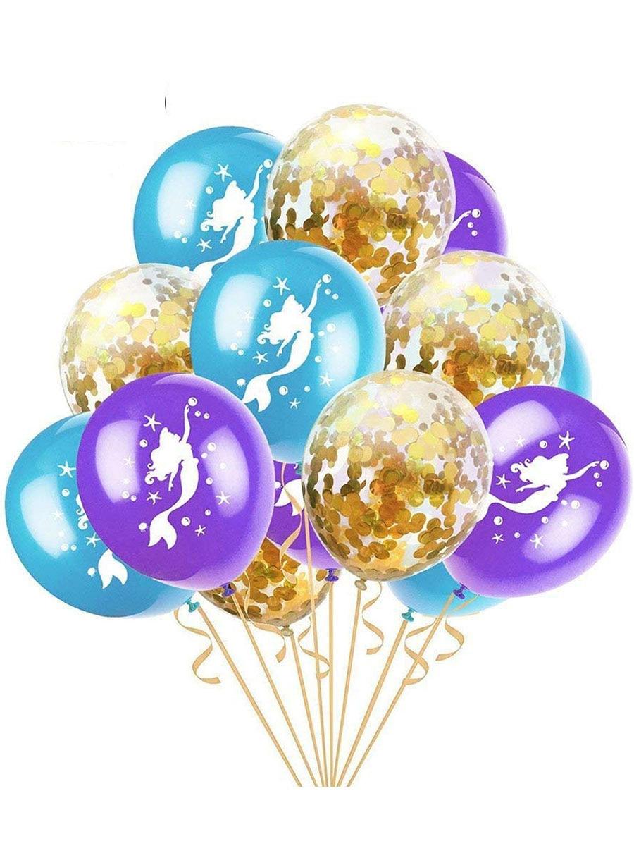 15 ballons latex sirène
