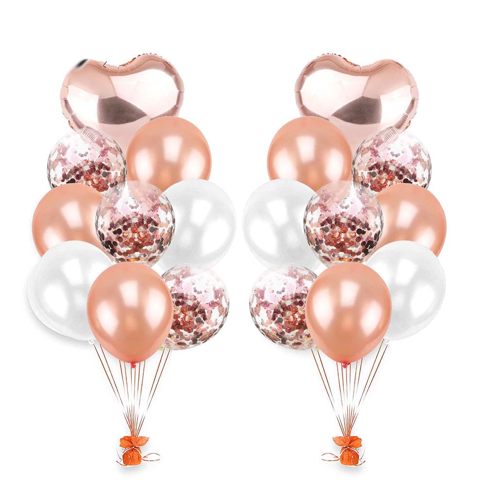 Bouquet de ballons rose gold