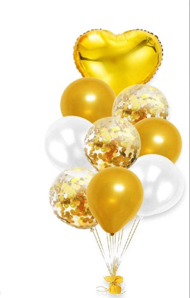 Bouquet de ballons or