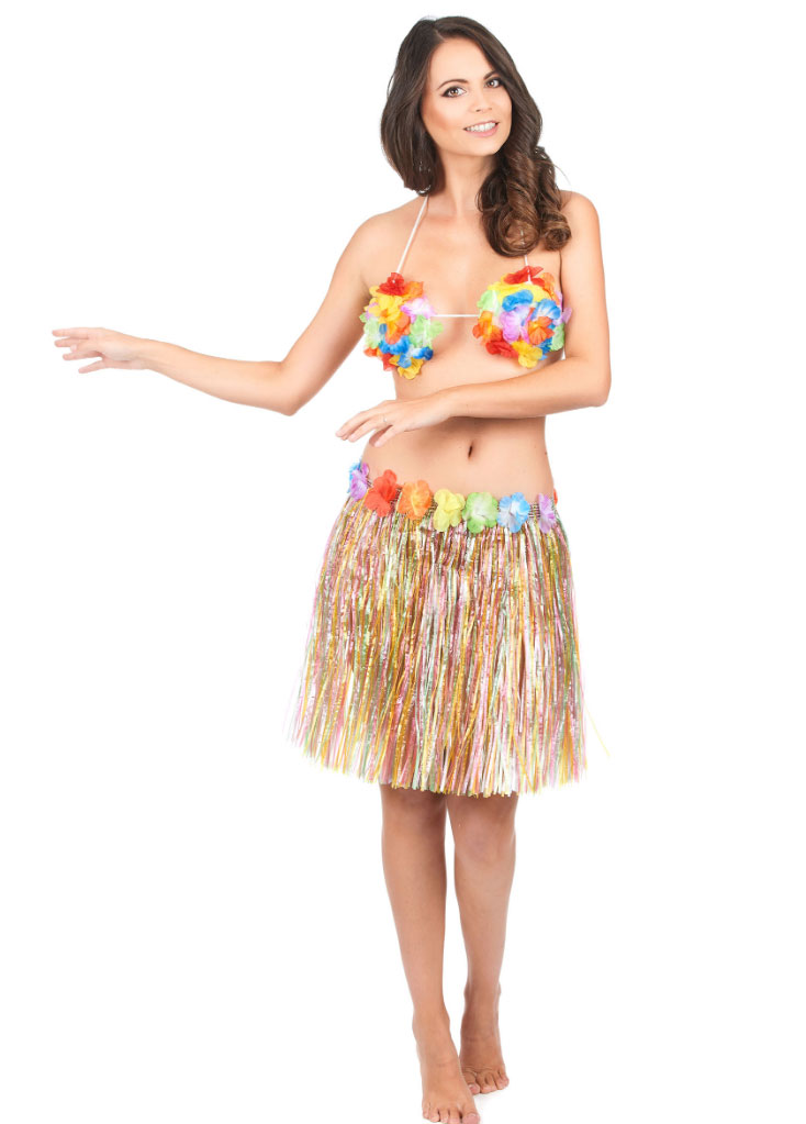 Jupe Hawaïenne Courte Multicolore