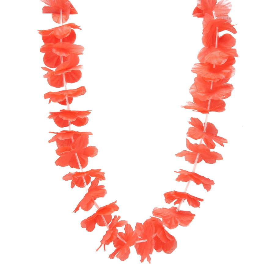 Collier hawaien rouge