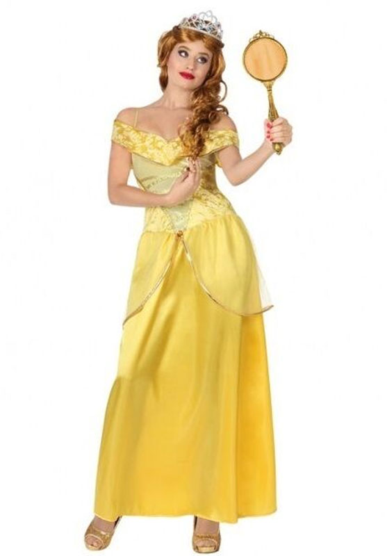 Déguisement de princesse jaune pour adulte