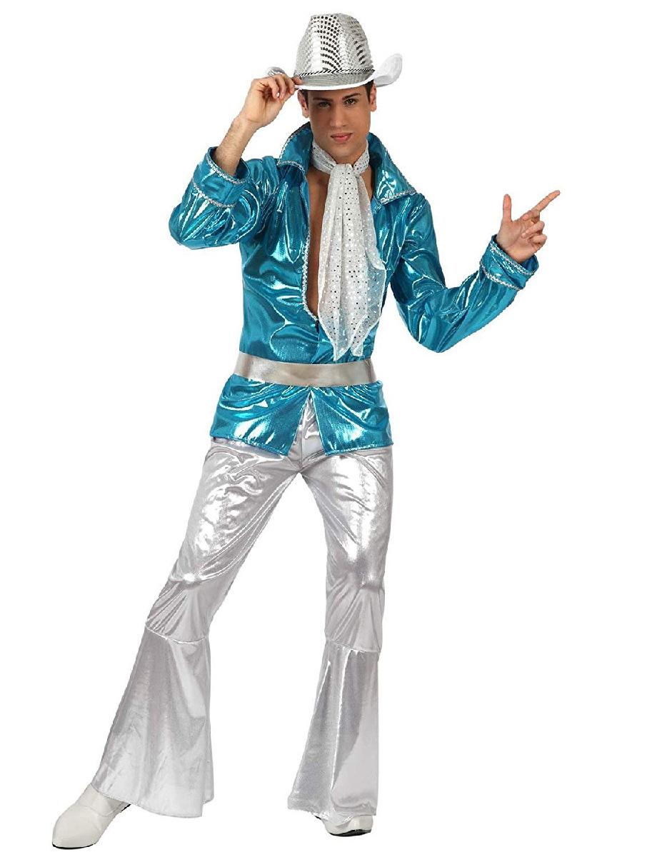 Déguisement disco homme métallisé