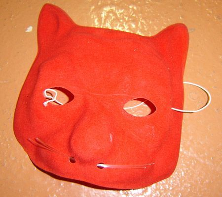 Masque Chat Rouge