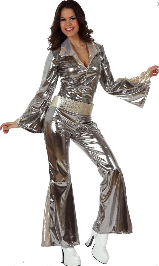 Déguisement disco femme argent