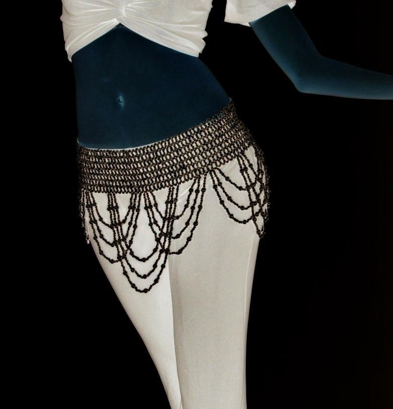 Ceinture de danse en perle noire