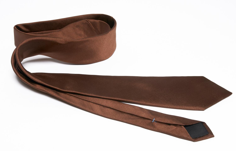 Cravate luxe satin marron