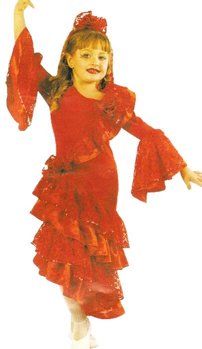 Déguisement Espagnole Enfant Rouge