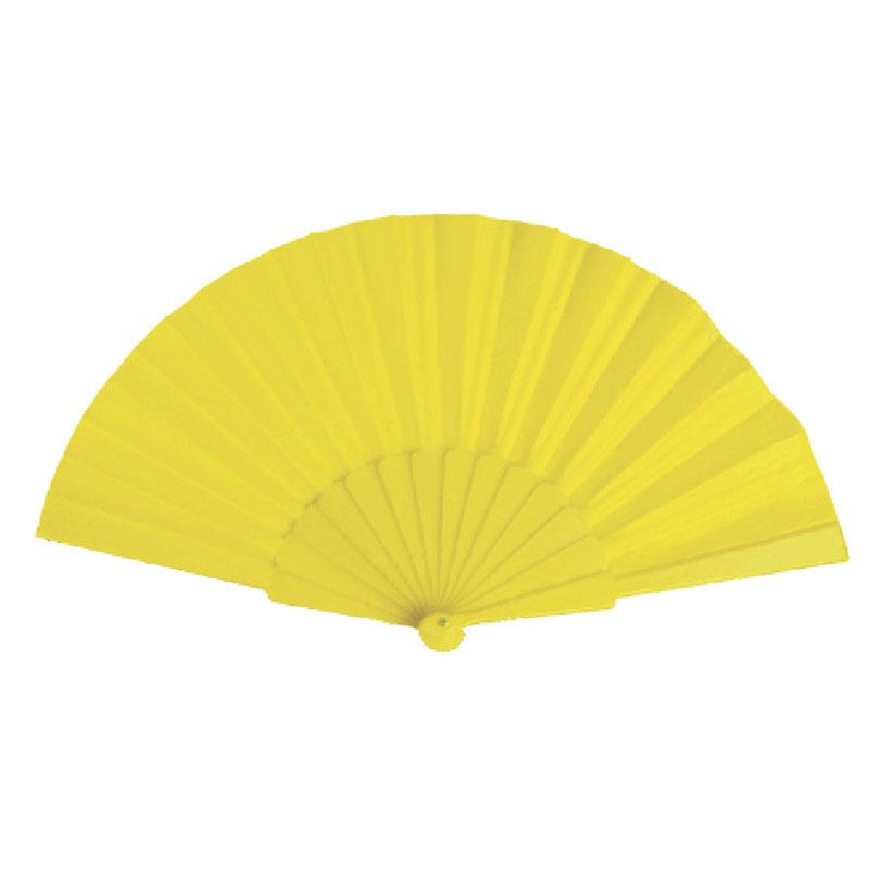 Eventail tissu jaune