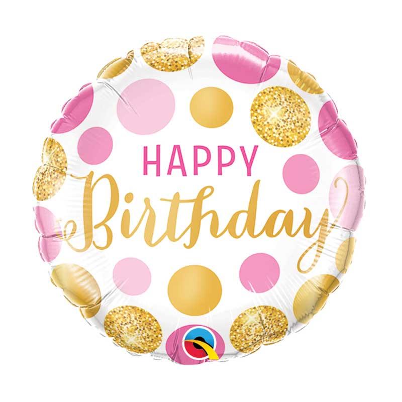 ballon mylar ou aluminium happy birthday