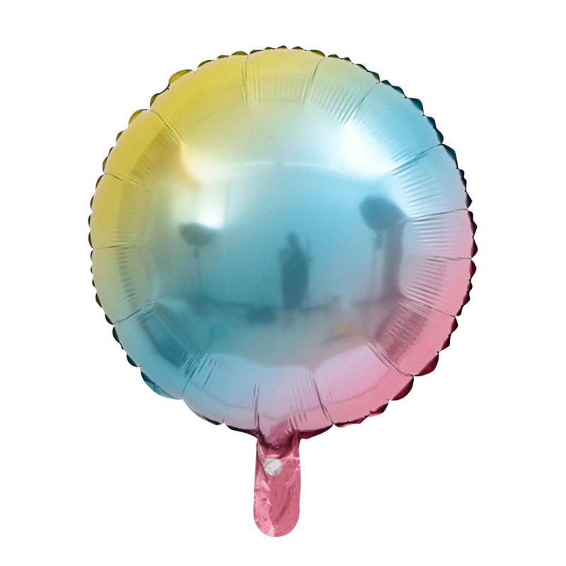 Ballon rond mylar aluminium arc en ciel