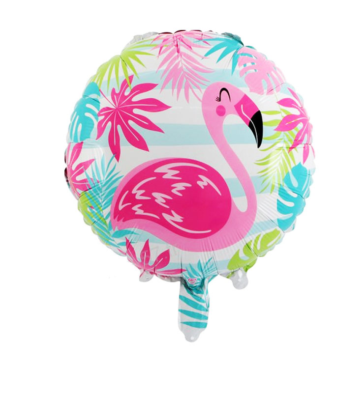 Ballon mylar aluminium flamand rose