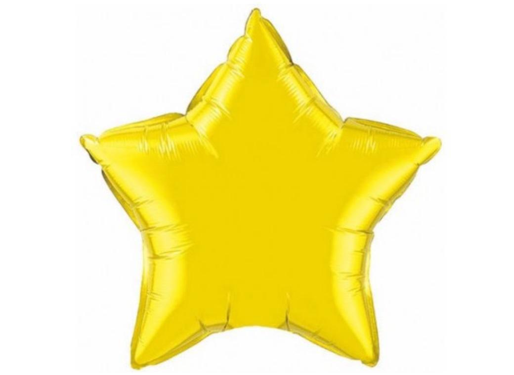 Ballon mylar aluminium étoile or