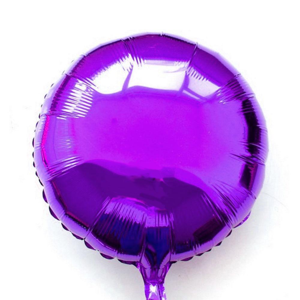 Ballon mylar aluminium rond violet