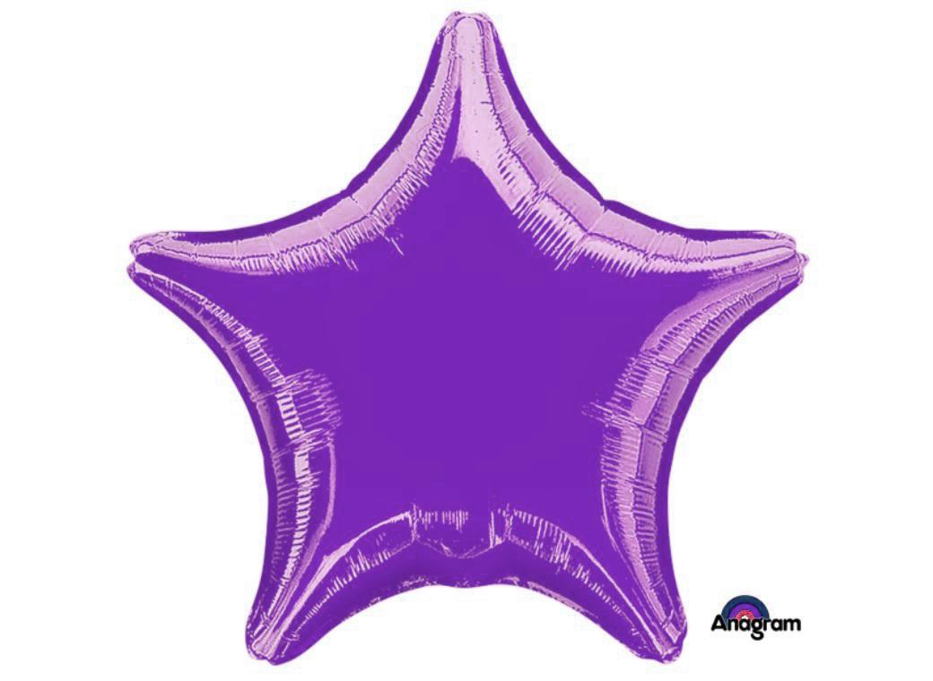 Ballon mylar aluminium étoile violet
