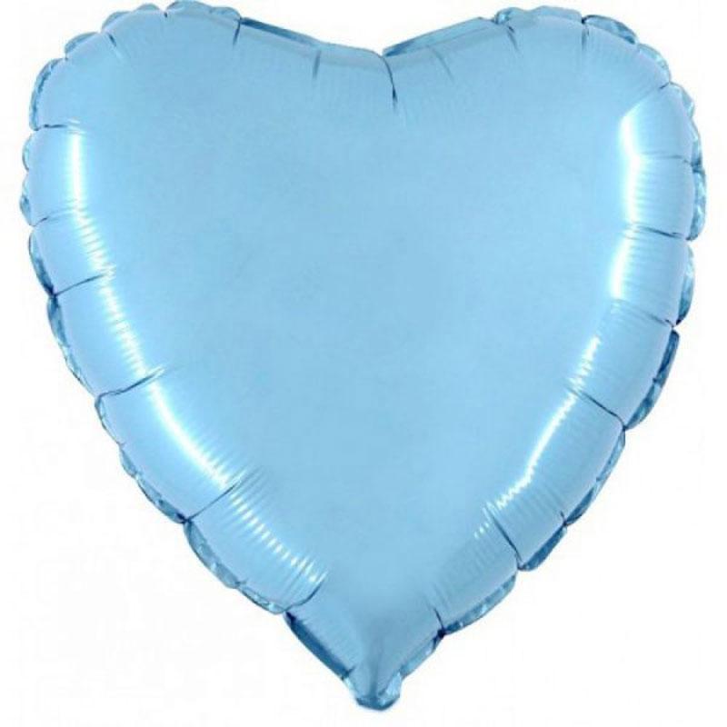 Ballon mylar coeur bleu ciel