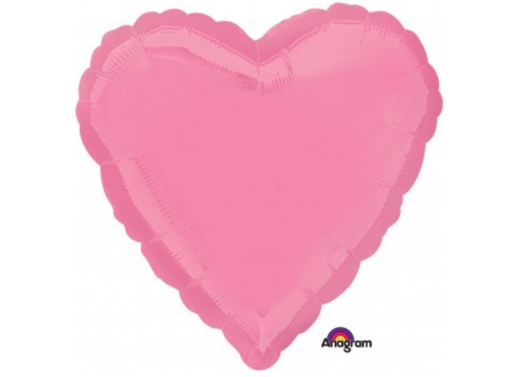 Ballon mylar coeur rose