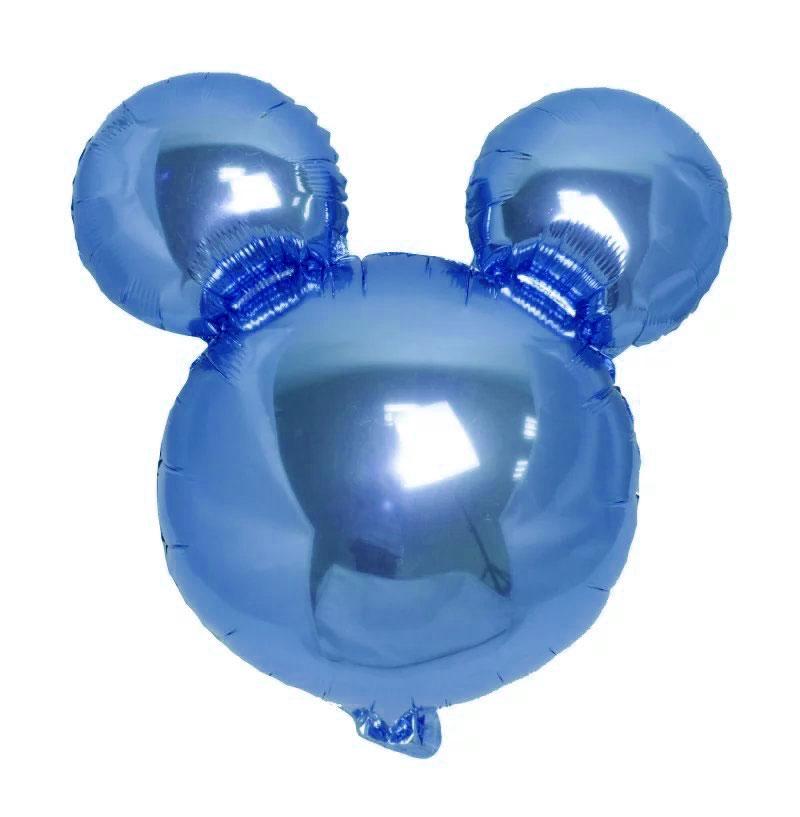 Ballon mylar tête de mickey bleu roy