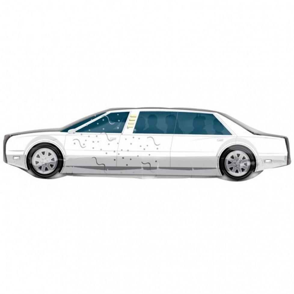 Ballon mylar aluminium limousine