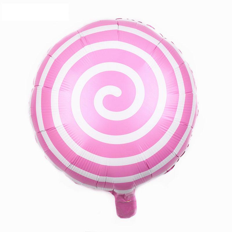 Ballon mylar candy spirale rose