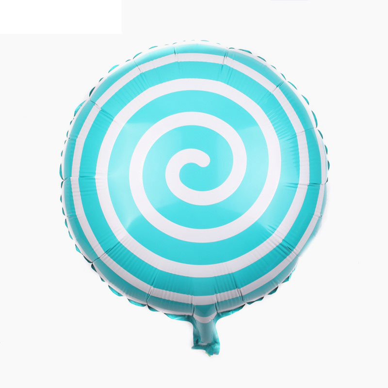 Ballon mylar candy spirale bleu