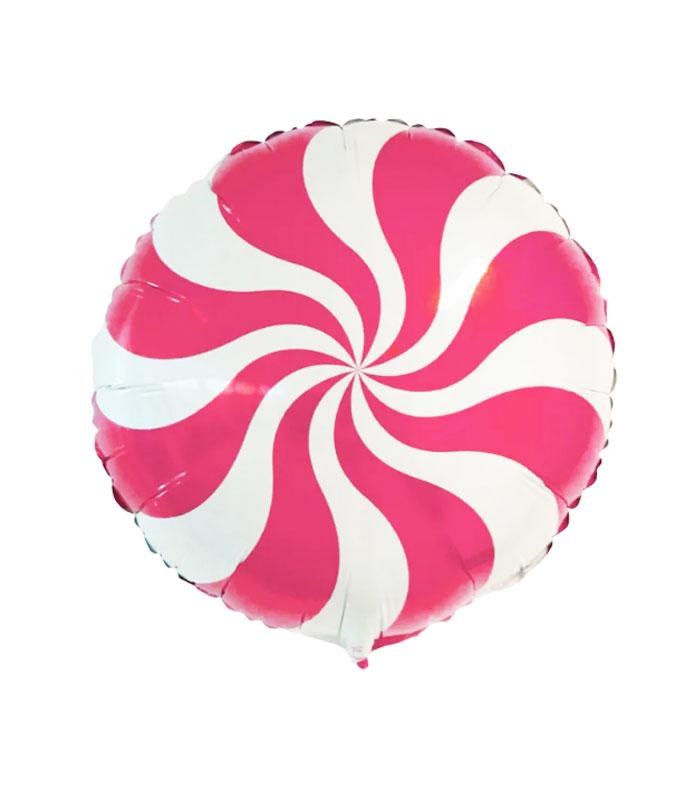 Ballon mylar candy hélice rose