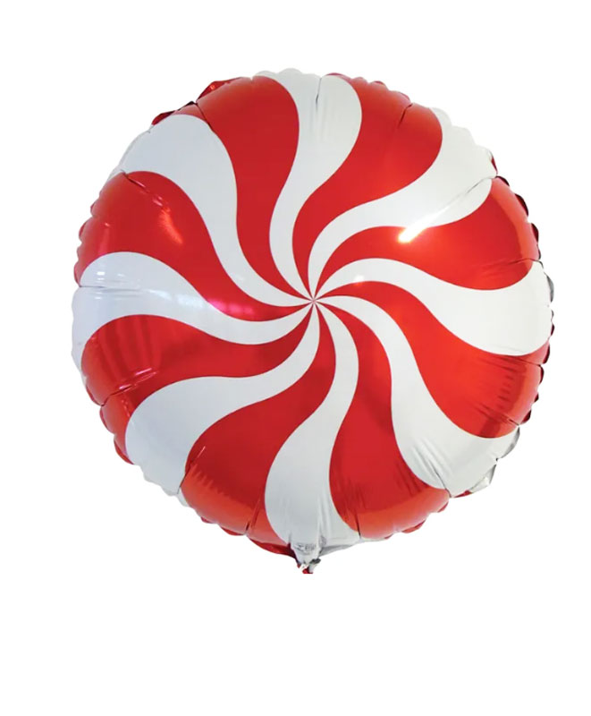 Ballon mylar candy hélice rouge