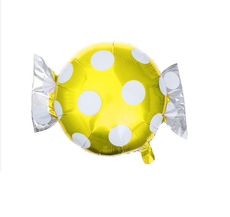 Ballon mylar aluminium bonbon or à pois