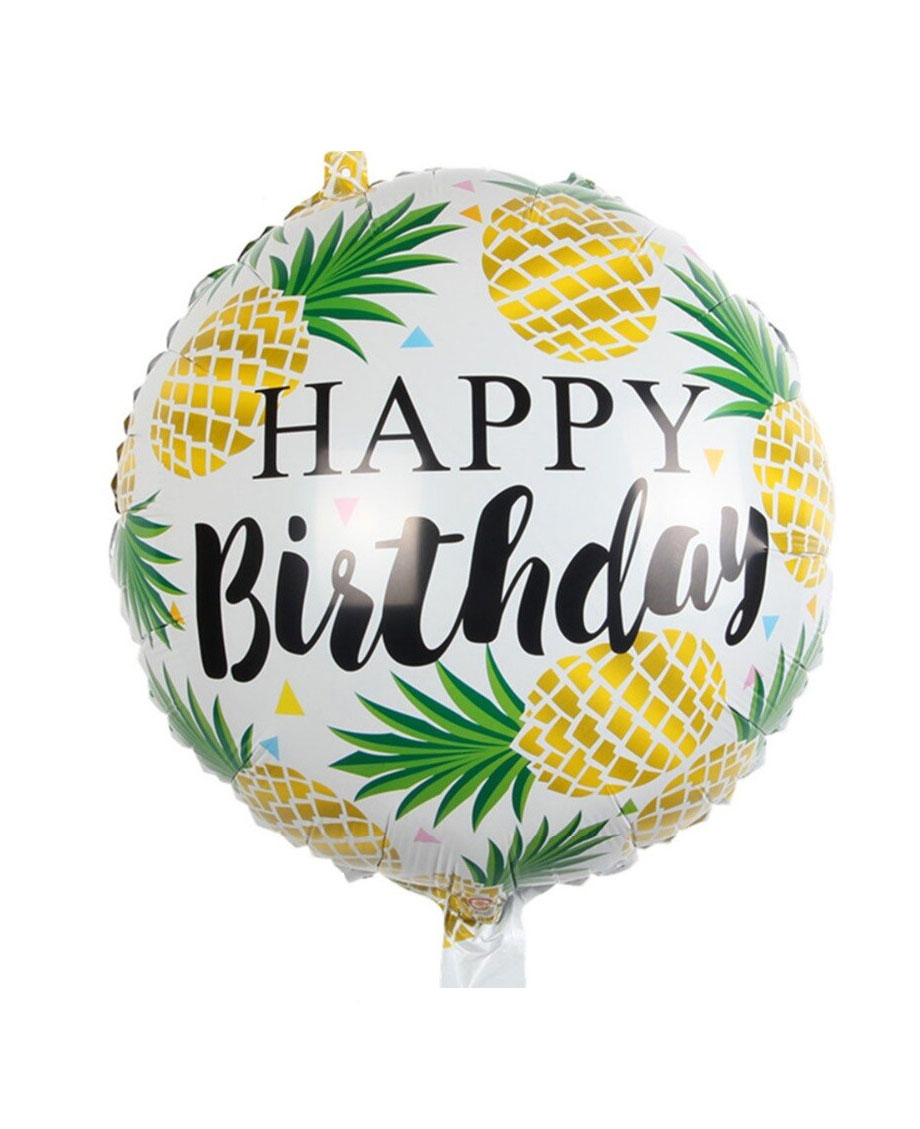 Ballon mylar aluminium ananas