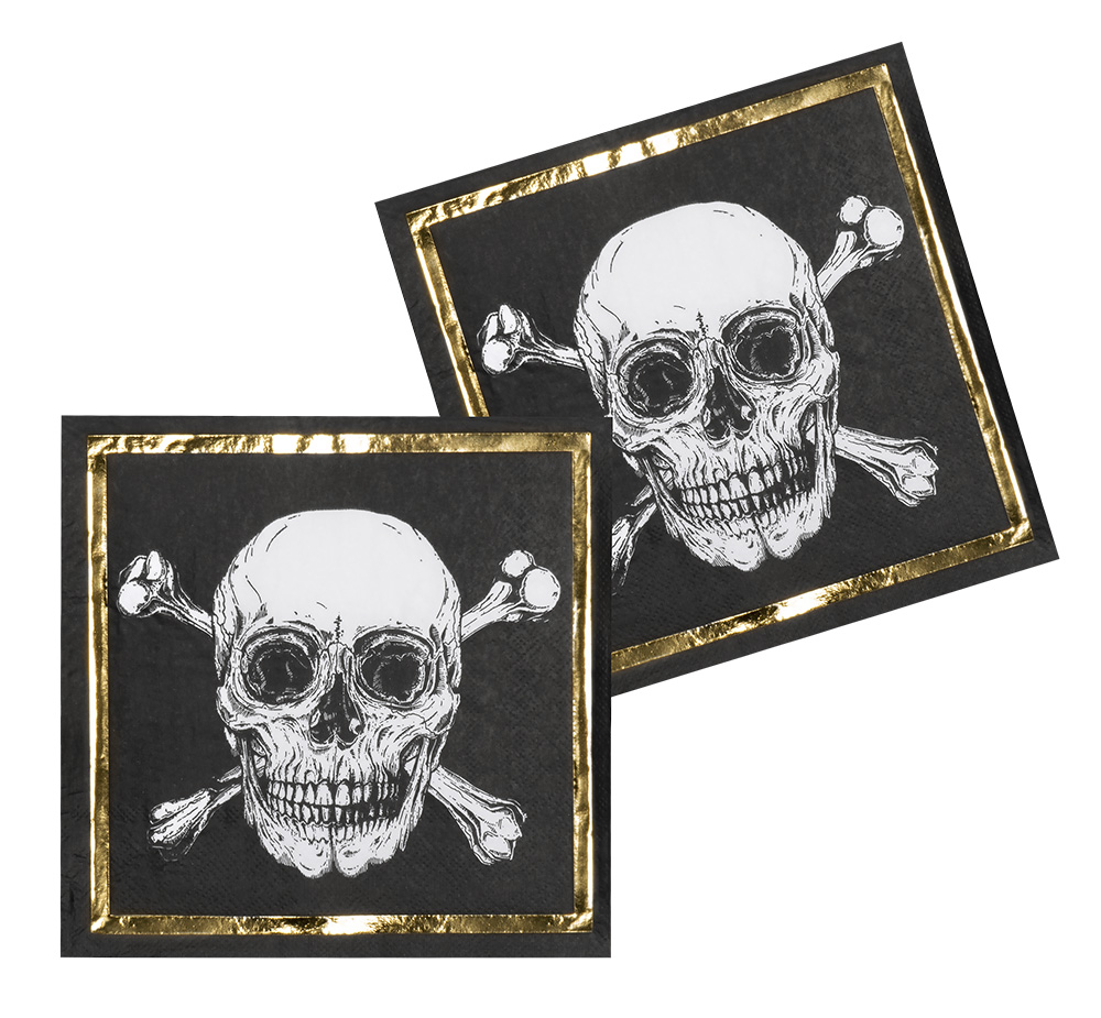 12 Serviettes Jetables Pirate