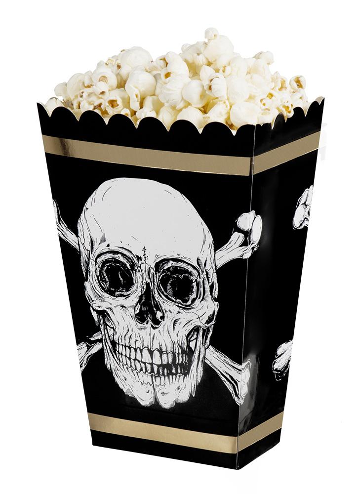 4 bols à pop corn thème pirate