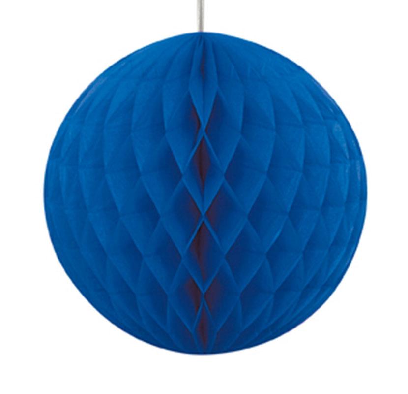 Boule Papier Alvéolé 40 Cm Bleu Marine