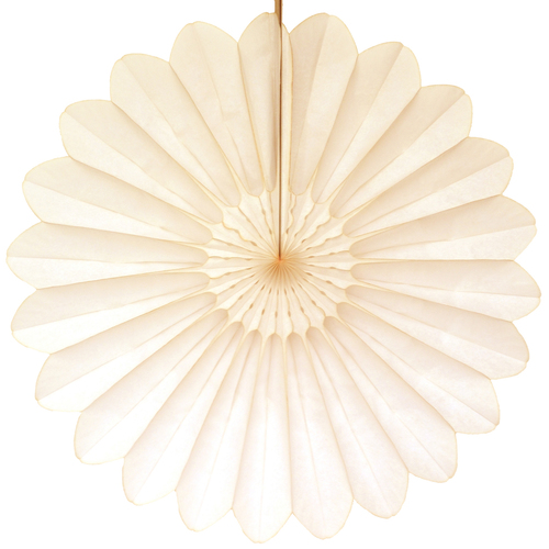 Eventail en papier ivoire