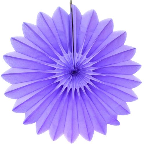Eventail en papier lilas