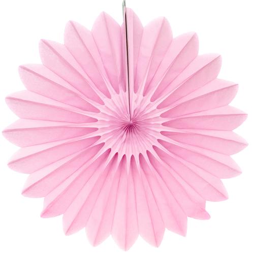 Eventail en papier rose