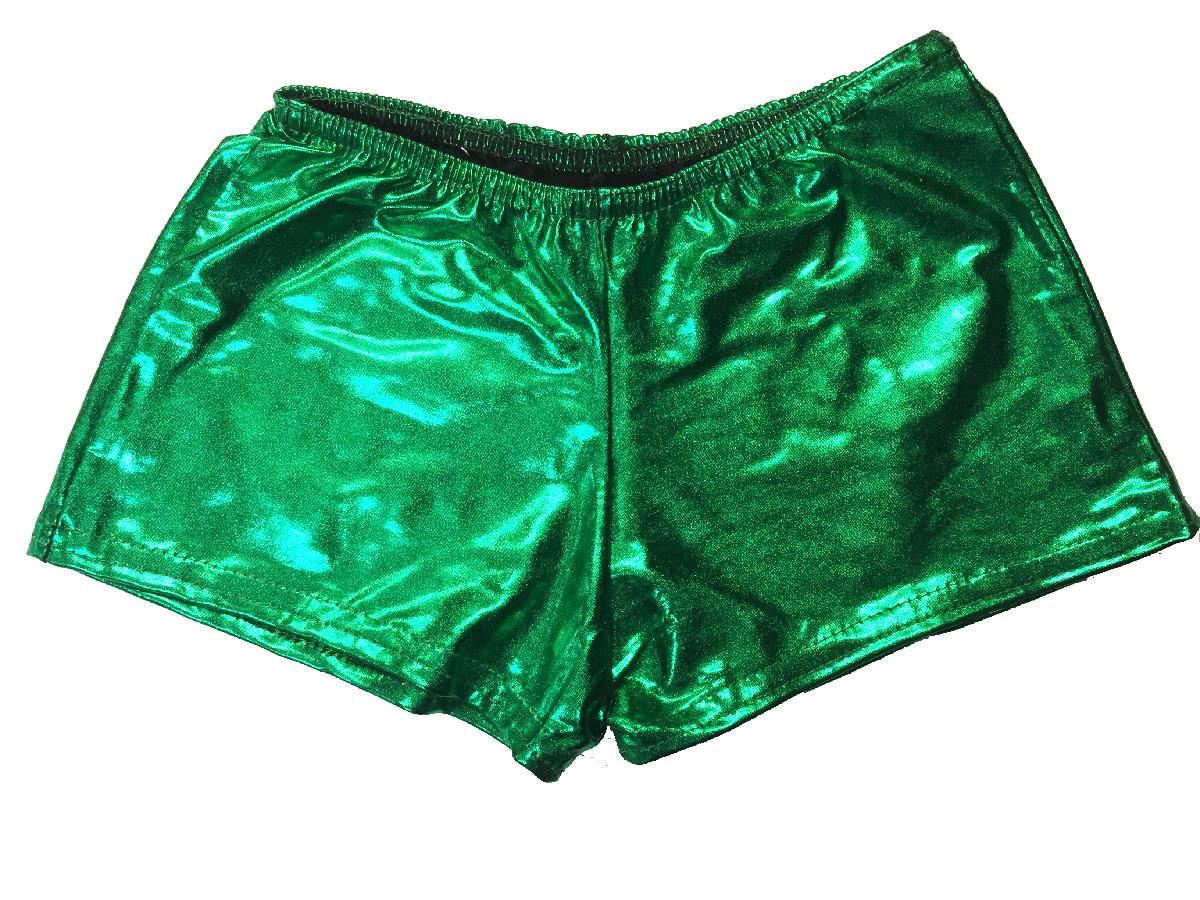 Short métallisé enfant vert brésil